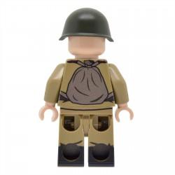 United Bricks - WW2 Soviet Infantry with M43 Gymnastyorka (PPSh-41) Minifigure
