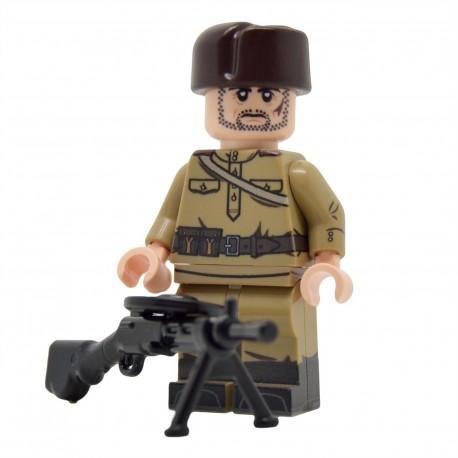 United Bricks - WW2 Infanterie soviétique LMG (M43 Gymnastyorka) Minifigure