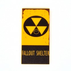 United Bricks - Plaque Fallout Shelter Tile 2x4