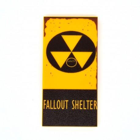 United Bricks - Plaque Fallout Shelter Tile 2x4
