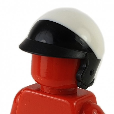 LEGO® - Black Minifigure, Helmet Motorcycle Open Face, with Visor