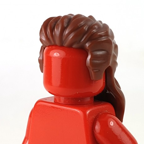 LEGO® - Reddish Brown Minifigure, Hair Long Mullet Style