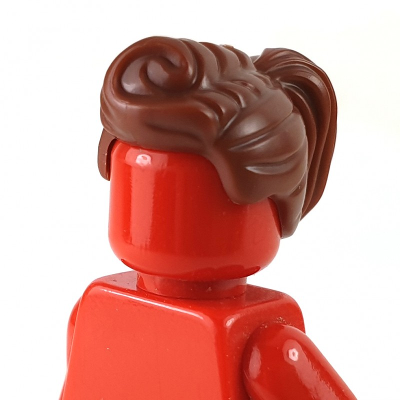 Lego New Reddish Brown Minifigure Hair Mid-Length and Wavy with Bangs