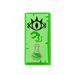 LEGO® Tile 1x2 - œil de gobelin & flacon Erlenmeyer (Trans-Bright Green)
