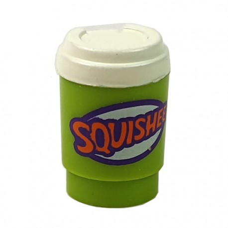 LEGO® Lime Minifig, Utensil Cup, Take Out Cup 'SQUISHEE'