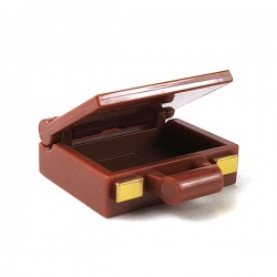 LEGO® - Reddish Brown Suitcase Base with Gold Clasps