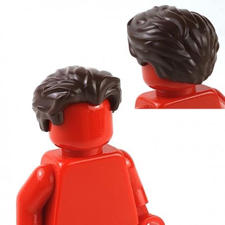 LEGO® - Dark Brown Minifig, Hair Swept Back