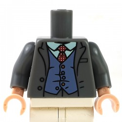 LEGO - Dark Bluish Gray Torso Jacket, Shirt, Tie