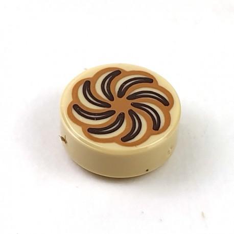 LEGO® - Tan Tile Round 1x1 - Pastry