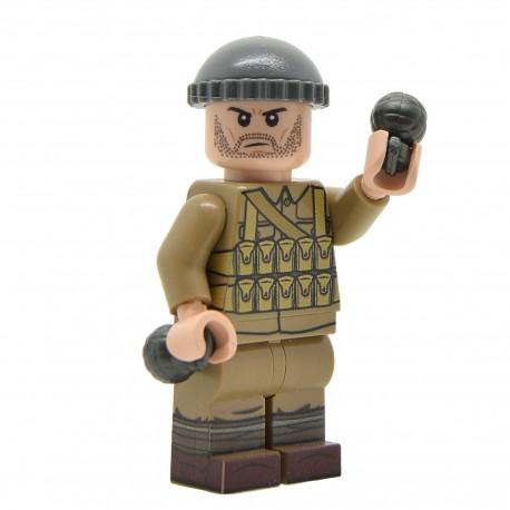 Lego United Bricks - WW1 Bombardier Britannique Minifigure