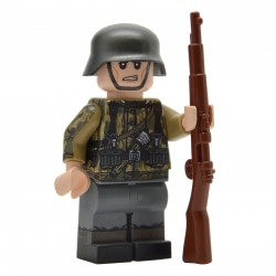 Lego United-Bricks WW2 Soldat Allemand Swamp Camo Minifigure