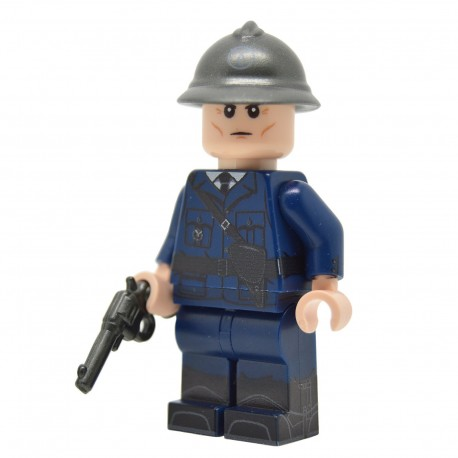 United Bricks - WW2 Vichy French Franc-Garde Officer Minifigure