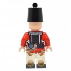 Lego United Bricks - Soldat Guerre Napoléonienne Péninsulaire Britannique Minifigure