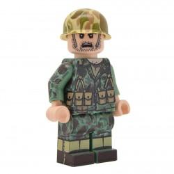 United Bricks - WW2 Fusilier Marin Américain en camouflage de peau de grenouille Minifigure