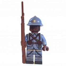 United Bricks - WW1 Soldat Français de couleur noire (Milieu de la guerre) Minifigure