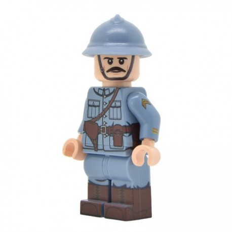LEGO United Bricks - Officier Français (milieu/fin de la guerre) Minifigure
