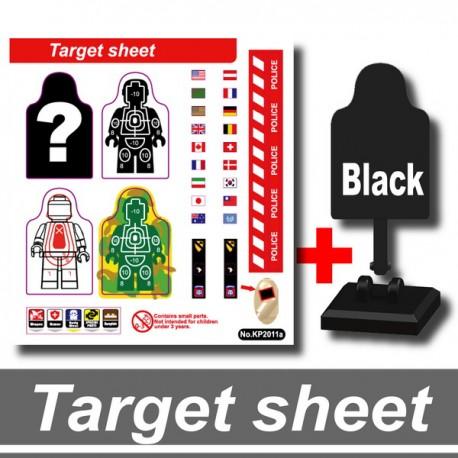 Si-Dan Toys - Cible / Target et Stickers (Noir)