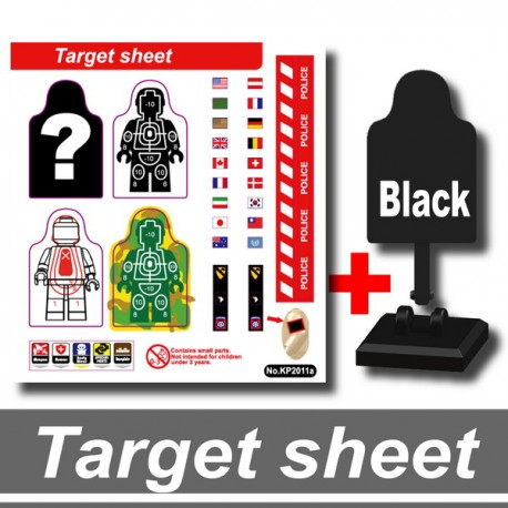 Si-Dan Toys - Dummies Target & Stickers (Black)