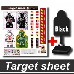 Si-Dan Toys - Cible / Target et Autocollants (B)