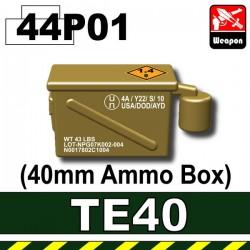 Si-Dan Toys - Ammo Box 40mm (TE40) (Dark Tan P01)