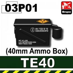 Si-Dan Toys - Boite de Munitions 40mm (TE40) (Noir P01)