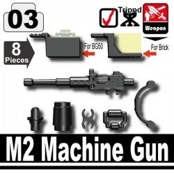 Lego Custom Minifig SI-DAN M2 machine gun + Trépied & accessoires (noir) (La Petite Brique)