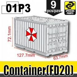Si-Dan Toys - Container Umbrella Corps (White)