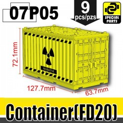 Si-Dan Toys - Container Radioactive (Yellow)
