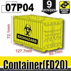 Si-Dan Toys - Conteneur Biohazard (Jaune)