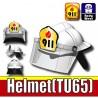 Si-Dan Toys - Casque Pompier 911 (Blanc)