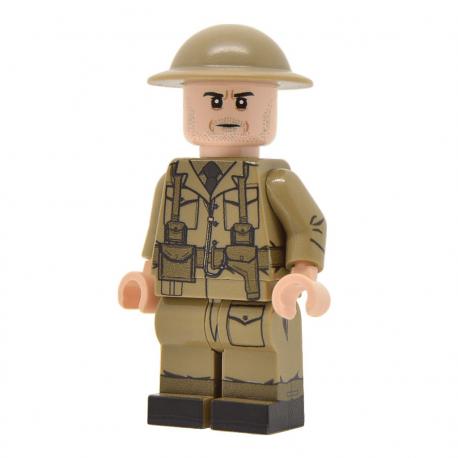 United Bricks - Officier de l'Armée Britannique (Milieu & fin de la guerre) WW2 Minifigure Lego