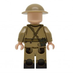 United Bricks - Officier de l'Armée Britannique (Milieu & fin de la guerre) WW2 Minifigure Lego