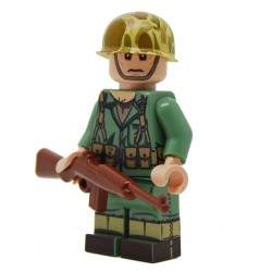 United Bricks - WW2 Fusilier Marine Américain Minifigure