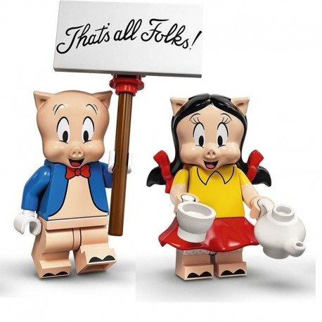 LEGO® Minifig Looney Tunes Series - Porky & Petunia Pig - 71030
