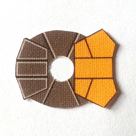 Lego Accessoires Minifig Custom CLONE ARMY CUSTOMS Shoulder Cloth Commander Orange (La Petite Brique)