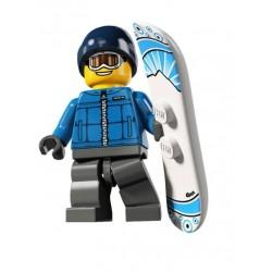 un snowboardeur