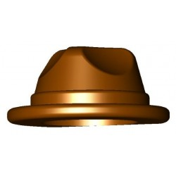 Chapeau gangster, Fedora, Reddish Brown
