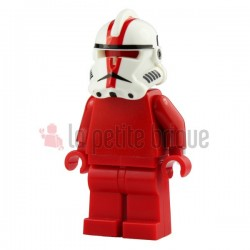 Lego Custom Minifig Arealight Casque White Commander Deviss (La Petite Brique) Star Wars