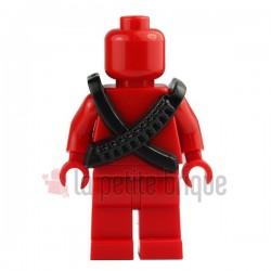 Lego Minifigure Brick Warriors - Cartouchière (Noir)