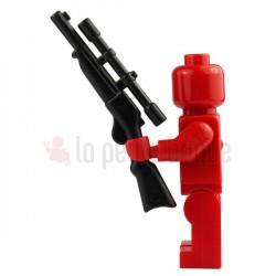 Fusil à lunette noir