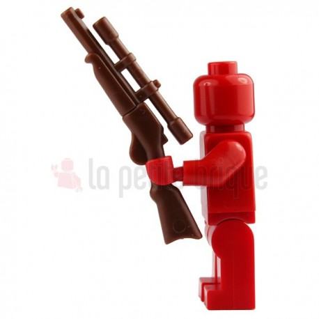Lego Minifigure Brick Warriors - Fusil à lunette Reddish Marron