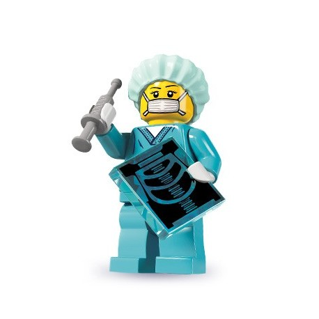 LEGO Minifig Serie 6 - 8827 - la femme chirurgien