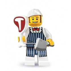 LEGO Minifig Serie 6 - 8827 - le boucher