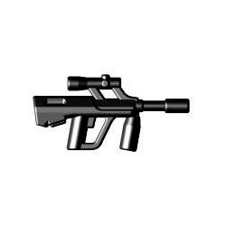 Lego Brick Warriors Custom minifig accessoires Fusil d'assaut Autrichien bullpup (noir)