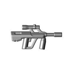 Lego Brick Warriors Custom minifig accessoires Fusil d'assaut Autrichien bullpup (pearl dark gray)