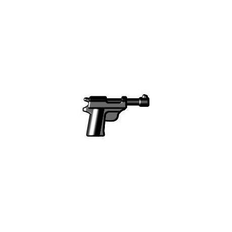 BrickWarriors LEGO Custom minifig accessoires Walther P38 (noir)