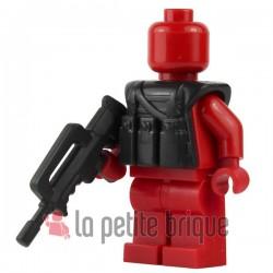 BrickWarriors LEGO Custom minifig accessoires FAMAS (pearl dark gray)