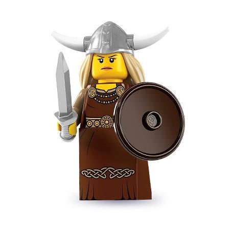 LEGO Minifig Serie 7 - 8831 - la femme Viking (La Petite Brique)