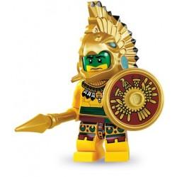 LEGO Minifig Serie 7 - 8831 - le guerrier aztèque (La Petite Brique)