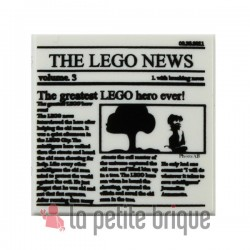 Lego Accessoires Minifig Journal Batman Newspaper THE LEGO NEWS